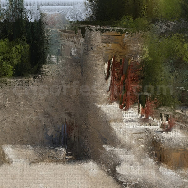 Pallace-of-Knossos-Crete-Greece-impressionist-photography-digital-print-impressionism-art-giclee