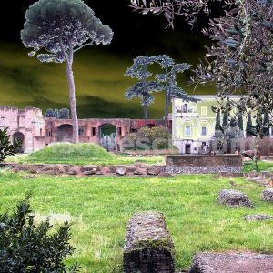 ruins-with-tree-no6-impressionist-photography-digital-print-impressionism-art-giclee