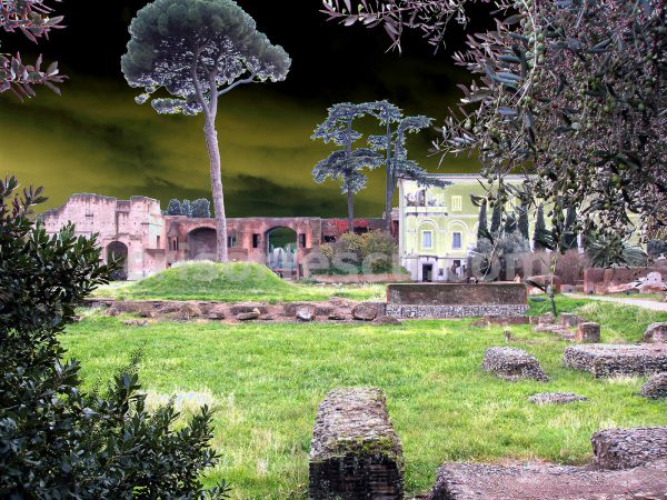 ruins-with-tree-no6-impressionist-photography-digital-print-impressionism-art-giclee