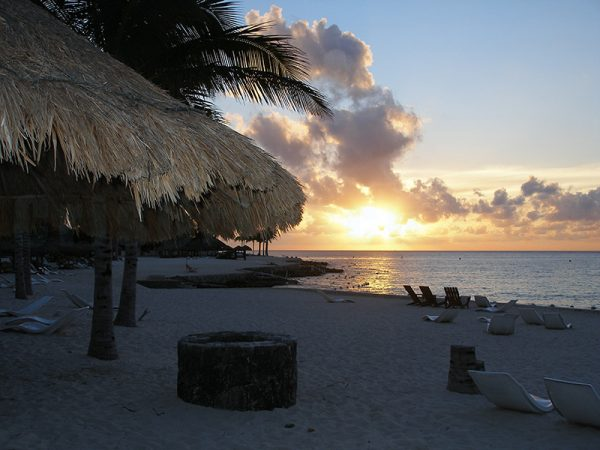Sunset-on-Cozumel-Island